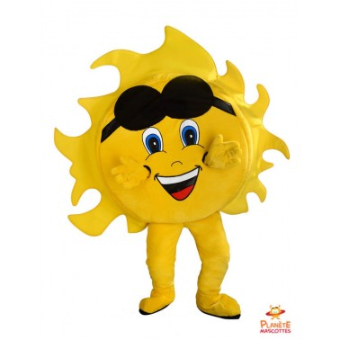 Sun mascot costume