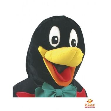 Tête mascotte costume pingouin