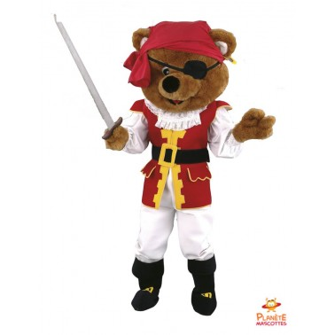Costume mascotte d'Ours pirate