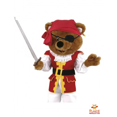 Costume mascotte ours pirate