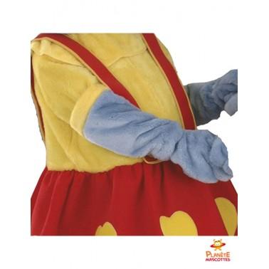 Costume mascotte souris jaune rouge