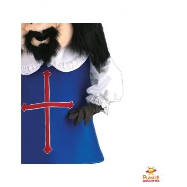 Costume mascotte mousquetaire Porthos
