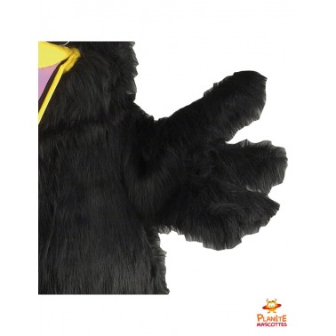 Détails mascotte corbeau
