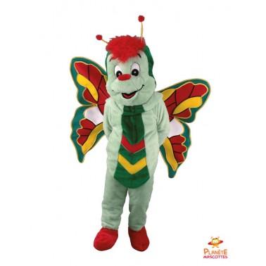 Costume mascotte Papillon vert