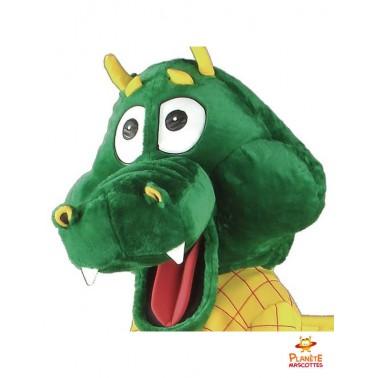 Tête mascotte de dragon
