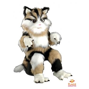 Mascotte chat tigré Planète Mascottes