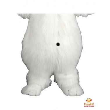 Pantalon mascotte d'ours blanc