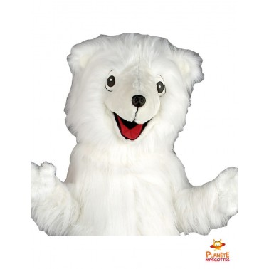 Costume mascotte d'ours blanc