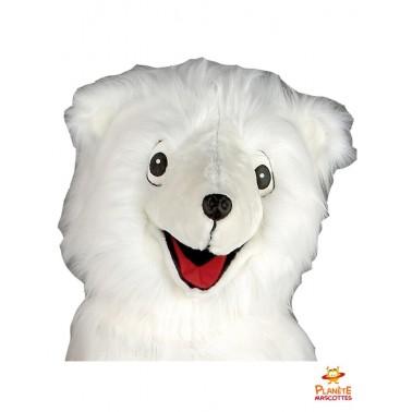 Tête mascotte d'ours blanc