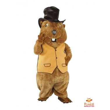 Marmot mascot costume