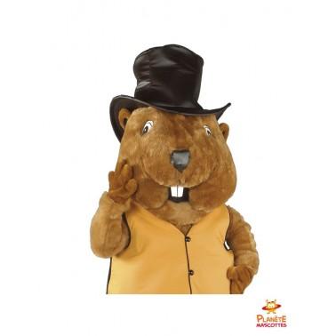 Costume mascotte de marmotte
