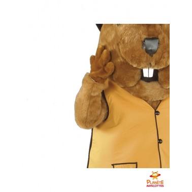 Détails mascotte marmotte