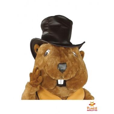 Tête mascotte de marmotte