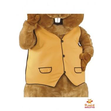Costume marmotte mascotte