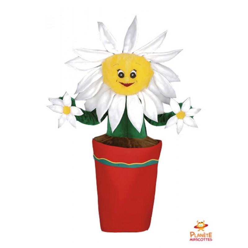 Mascotte pot de fleur Planète Mascottes