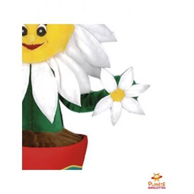 Détails mascotte pot de fleur