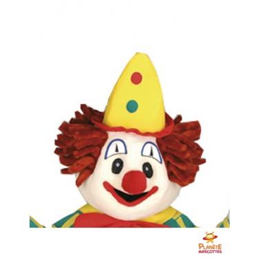 Tête mascotte de clown