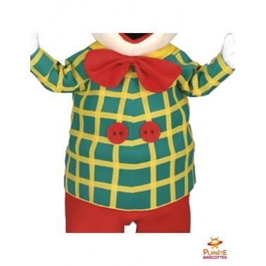 Détails costume de clown