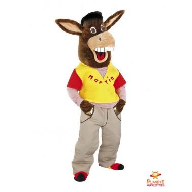 Esel mit Kleidung