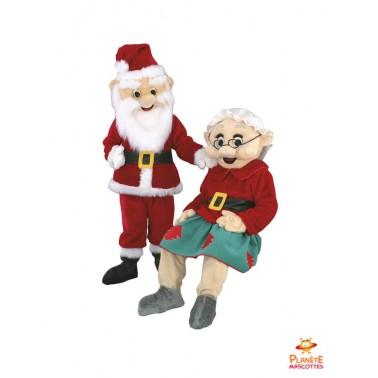 Mascottes Père et Mère Noël Planète Mascottes