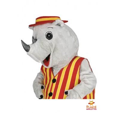 Costume mascotte rhinocéros