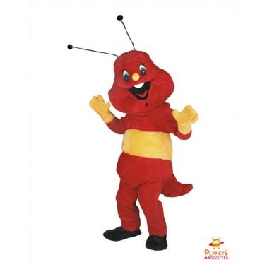 Costume mascotte de Chenille