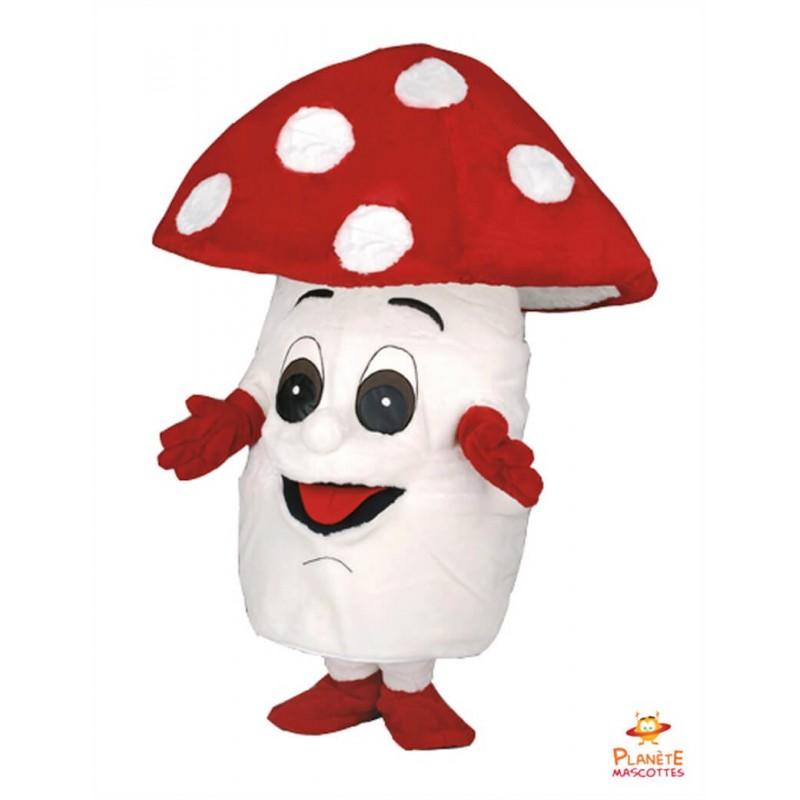 Mascotte champignon Planète Mascottes