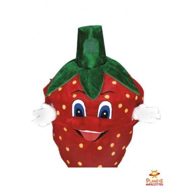 Costume mascotte de fraise