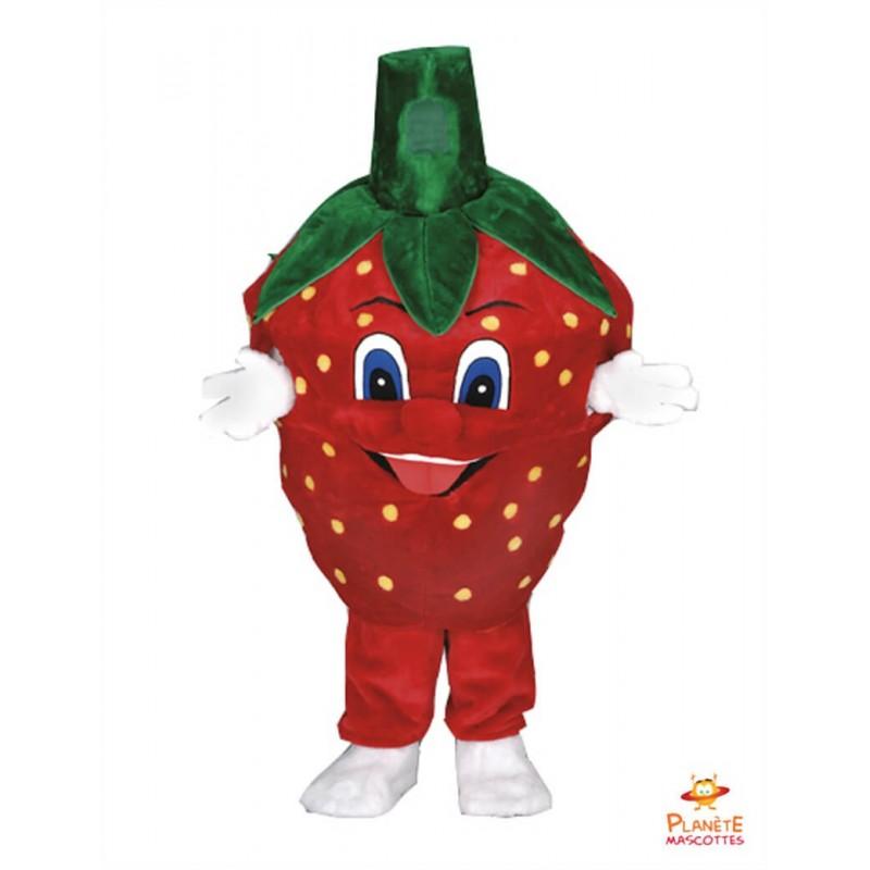Mascotte fraise Planète Mascottes