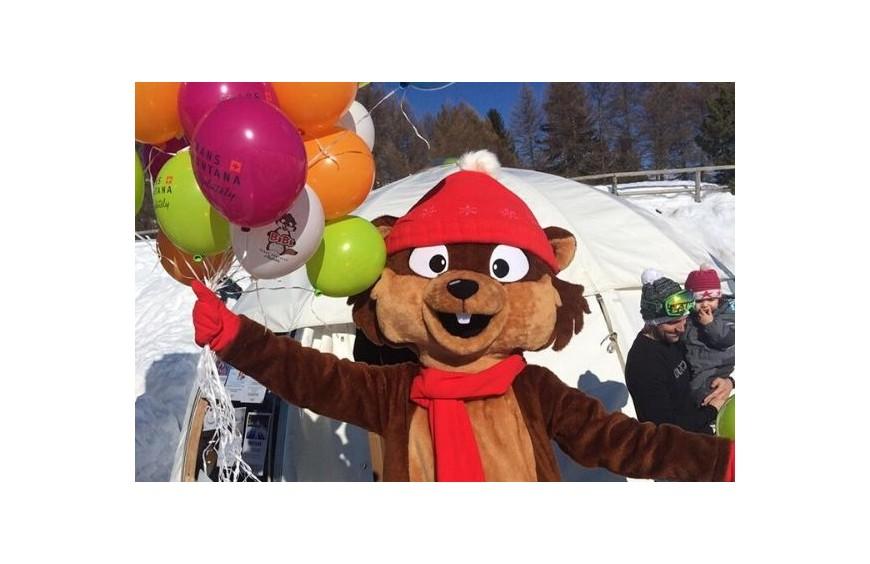 Bibi, une mascotte pour Crans-Montanta !
