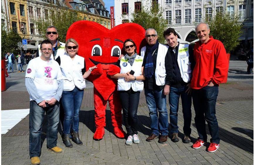 La mascotte de l'association Club Coeur et Santé du Calaisis est arrivée!